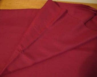 Crepe-like /polyester blend Fabric Dark Cranberry Color