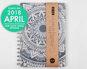 2018 2019 Planner with a high quality paper! Dreamy mandala A5 Diary! Weekly daily Calendar Calendario Kalender Agenda Journal! Open-dated