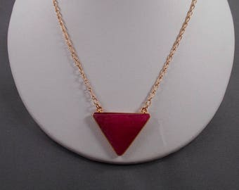 Faceted Ruby Jade Necklace and Earring Set