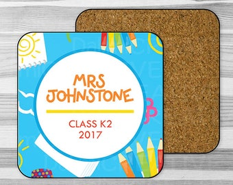 Coaster - Teacher Appreciation Gift -  End Of Term Gift - Gift For Teacher - Personalised Single Coaster!