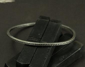 Moon Bangle--Silver Bangle--Textured Bangle--Silver Bracelet--Textured Bracelet--Dot Bangle--Hammered Bangle--Stacking Bangle--Layering