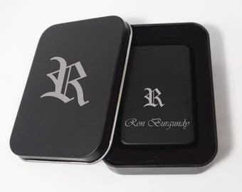 5 Personalized Engraved Lighters, Custom Gift Tin Box, Groomsman Gifts, Best Man Wedding Gifts, Custom Gifts, Groomsmen Gift