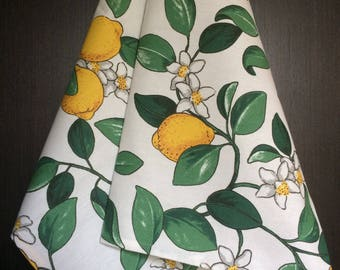 Kitchen Towel Tea Towel  Dish Towel - Scandinavian Cotton fabric Lemons - 82 cm x 47 cm - 1 pc - 32 inches x 18 inches