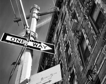 SoHo Architecture, Fine Art Print, New York architecture, New York City, Urban decor, street sign, NYC print, architecture photography