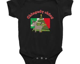 Dominick the donkey Christmas Infant Bodysuit