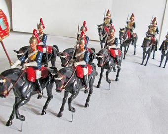 9 Rare Britains Herald Plastic Mounted Horseguards c.1960s A ideal gift for a collector for Christmas