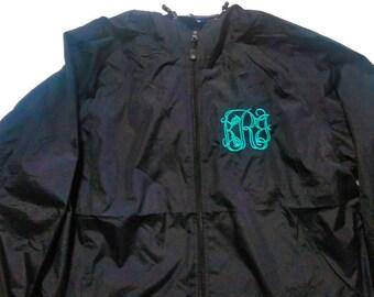 Rain Jacket - Monogrammed Jacket - Personalized Jacket - Monogram Rain Coat - Monogram Windbreaker - Monogram Coat - Women's Jacket