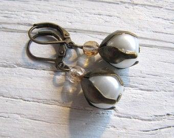 Romatik Girl Blüten Ohrringe Glasperlen Zwerge Prinzessinen Einhorn Ohrschmuck Valentinstag