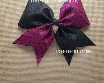 Best and Trending Customized Unique Sparkle Mermaid Glitter Cheer Bow by Cheerfully Ours Boutiq