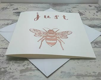 Just Bee card, No Scent, Blank inside.