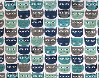 Fabric - Michael Miller - Sassy cats - medium weight woven cotton fabric.