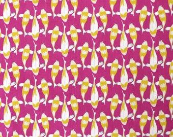 Fabric - Michael Miller - Tiny koi - medium weight woven cotton fabric.