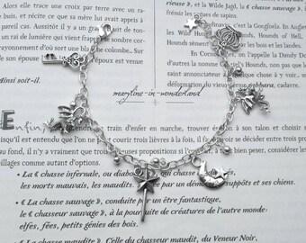 Silver dragon charm bracelet charm