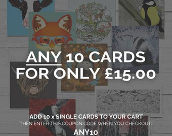 SPECIAL OFFER any 10 cards