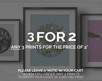SPECIAL OFFER 3 for 2 prints
