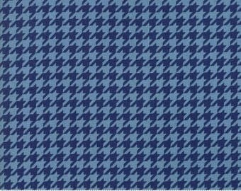 Snow Much Fun #19807-14, Deb Strain, Navy Blue, Houndstooth, Midnight Blue, Christmas Fabric, Moda Fabrics, IN STOCK