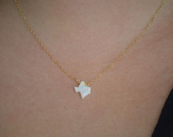 White Opal Texas Necklace