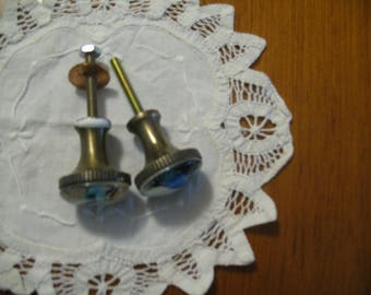 Pair of cupboard or door knobs