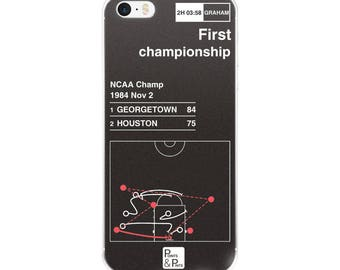 Georgetown Basketball iPhone Case: First championship (1984)