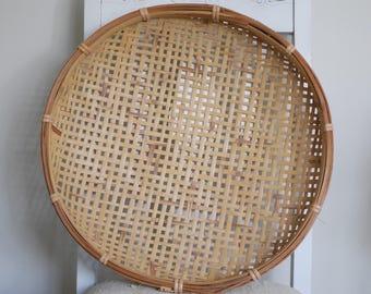 Woven Basket Wall Decor winnowing basket | etsy