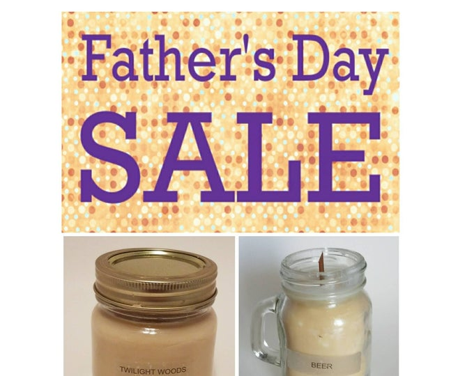 Featured listing image: Father's Day Sale - 2 Scented Soy Candles (1) 7 oz & (1) oz Candle) FLAT RATE Shipping Available!!!