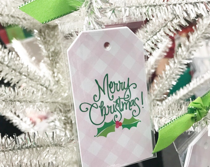 Pink Gingham Gift Tag (Qty 5)