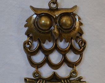 Cute Owl Pendant Auto Rearview Mirror Accessory Jewelry Gizmo