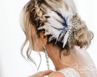 N31 Bridal Veil, wedding hairstyles, Bohos, bridal hairstyles, hair ornaments, comb, bridal headpieces, Fascination, vintage, ivory