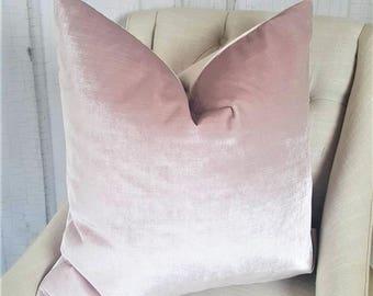 Euro Pillow Cover, Designer Pillow, 28x28, 30x30, Accent Pillow, Throw Pillows, 0211633 Blush