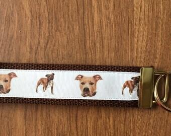 Pit bull Key Chain Wristlet Zipper Pull