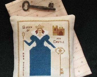 Primitive Sampler Cross Stitch Pattern Queen Of My Castle pdf