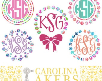 Monogram With Border Decal - Monogram Decal - Monogram - Car decal - Window Decal - Yeti Decal - Car Monogram - Yeti Monogram - Vinyl Decal