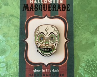 Skull Halloween Masquerade Enamel Pin