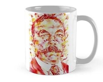 ARTHUR CONAN DOYLE - watercolor painting - mug