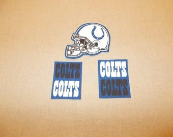 Appliques - NFL - Indianapolis Colts - Sew on or No Sew