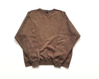 90s retro club monaco circle logo long sleeve Crewneck sweatshirt medium vintage pullover sweater