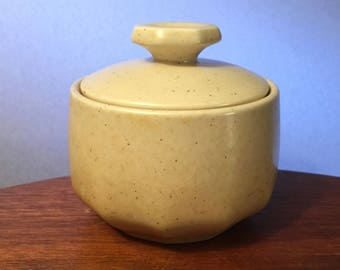 """Mikasa Indian Feast """"Speckled Biscuit"""" sugar bowl made in Japan"""