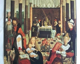 The Holy Kinship by Geertgen tot Sint Jans - Unframed Colorful Illustration Print