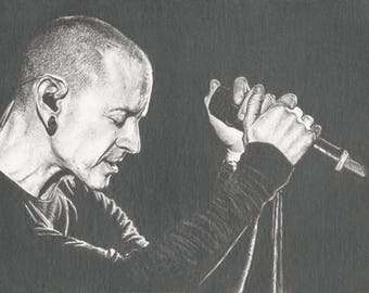 Linkin Park Chester Bennington Print