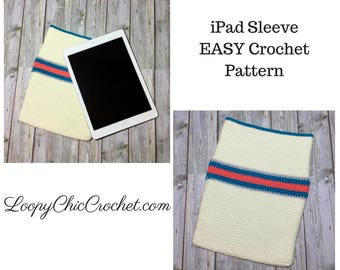 iPad or Tablet Sleeve Crochet Pattern, EASY Crochet Pattern for Beginners, Easy Crochet Pattern, iPad Cover Pattern
