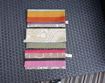 SET of 3 ranges (linen) hand made vintage napkin rings