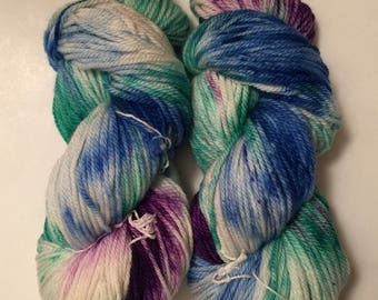 Hand Dyed Yarn Aran weight Worsted weight 100% superwash merino wool | 100 gr  | Super Soft |  Could it be Magic | Free shipping in the US