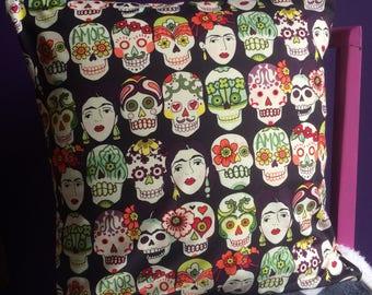 Frida Kahlo Skull Cushion Cover