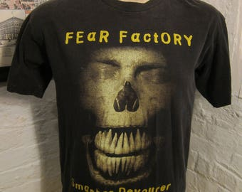 Size L (45) ** Rare 1990s Fear Factory Concert Shirt (Double Sided)