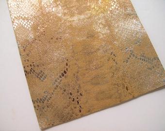 golden leather snake metallic