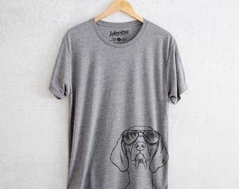 Sawyer the Vizsla - Tri-Blend Unisex Crew Grey - Dog Lover Gift