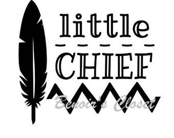 Little Chief SVG File, Vector, Cricut, Silhouette - instant download