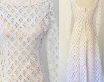 Vintage 70's Lace Maxi Dress l S