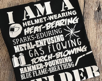 Custom Welder Mens T Shirt