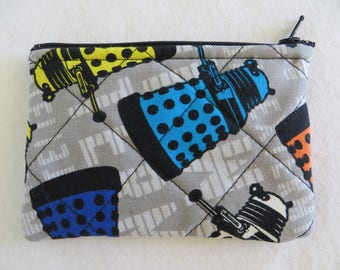 Dr Who bag, Tardis, change purse,  coin pouch, nerd, gifts for him, stocking stuffer, gift card holder, BBC, The Doctor